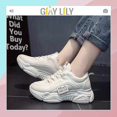 Giày thể thao nữ full trắng viền số 7 GIASIEUREHN Giày Thể Thao Nữ Trắng Tuyết