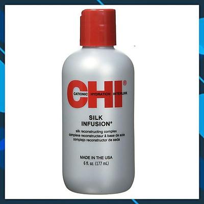 Tinh dầu CHI Silk Infusion Silk Rescontructing Complex dưỡng bóng mượt tóc USA 177ml