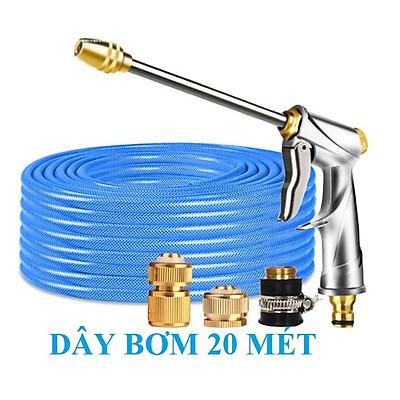 ️ Bộ dây vòi xịt nước rửa xe, tưới cây , tăng áp 3 lần, loại 20m 206701-1 đầu đồng,cút đồng,+ mở chai