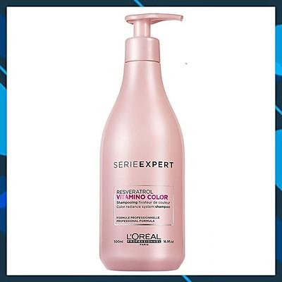 Dầu gội chăm sóc tóc nhuộm L'oreal Serie Expert A-OX Vitamino color radiance shampoo 500ml