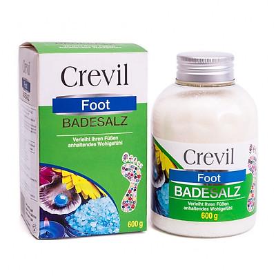 Muối ngâm chân thảo dược Crevil Foot Badesalz đau khớp, hôi chân (600g) - KBM02