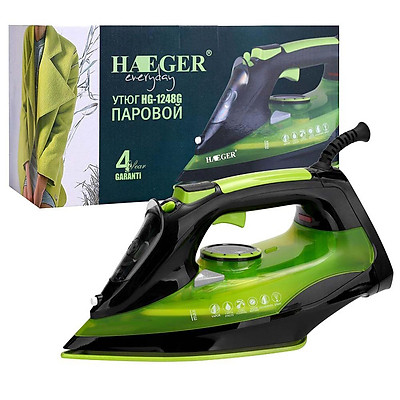 2200w Steam Iron For Clothes Rapid Even Heat Ceramic Soleplate Electric Iron Eu Plug