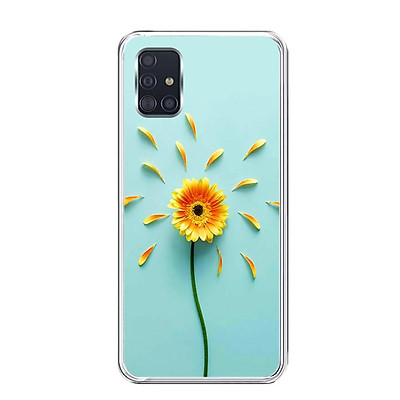 Ốp lưng dẻo cho điện thoại Samsung Galaxy A51 - 0468 SUNFLOWER02 - Hàng Chính Hãng