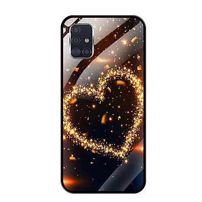 Ốp lưng Kính Cường Lực cho Samsung Galaxy A51 - 0418 HEART09 - Hàng Chính Hãng
