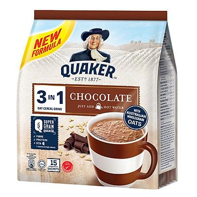 Thức Uống Yến Mạch Quaker 3in1 - Vị Chocolate 420g