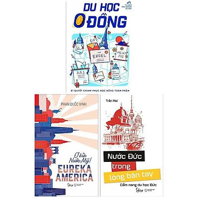 Combo Sách Văn Hóa - Địa Lý - Du Lịch Hấp Dẫn: Nước Đức Trong Lòng Bàn Tay + Du Học 0 Đồng + EUREKA AMERICA – Ơ Kìa Nước Mỹ! (Tủ Sách Trải Nghiệm Du Học / Top Sách Được Độc Gỉa Yêu Thích Nhất)