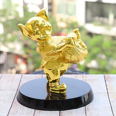 Tượng Heo Phú Quý mạ vàng