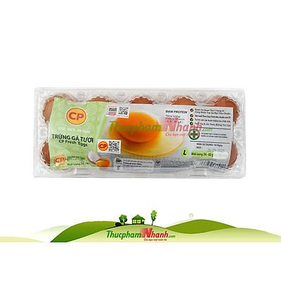 [Chỉ Giao HCM] - Trứng gà CP loại 3 - Khay 10 trứng