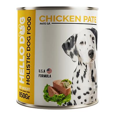Pate Tươi Dành Cho Tất Cả Các Giống Chó Ở Mọi Độ Tuổi Hương Vị Gà Thơm Ngon Dễ Ăn Bắt Vị - Hello Dog Chicken Pate 850G