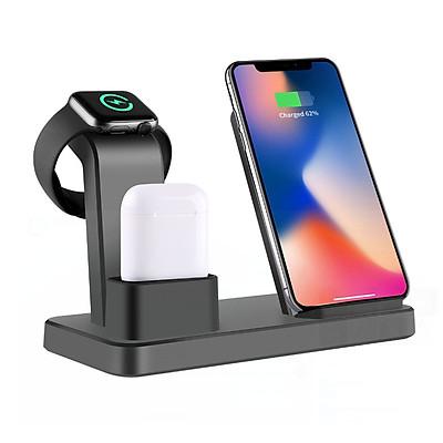Đế Sạc Không Dây Đa Chức Năng Cho Apple Watch & Iphone & AirPods