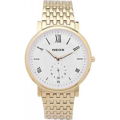 Đồng hồ NEOS N-40675M nam dây thép vàng