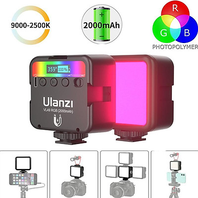 Vl49 Mini Rgb Led Video Light 2000mah Vlog Fill Light Phone Camera Light