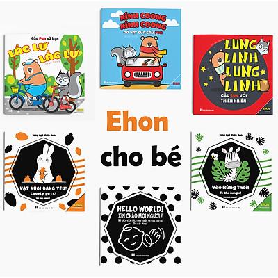 Combo 6 cuốn Ehon Kích thích thị giác - Âm thanh cho Trẻ sơ sinh