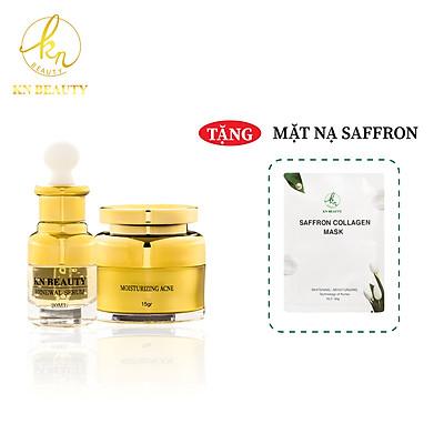 Bộ 2 sản phẩm Trắng Da Ngừa mụn KN Beauty chuyên sâu: Kem dưỡng 25g + Serum 30ml (Quà Tặng Mặt Nạ)