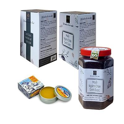 Combo 02 Muối ngâm chân Sinh Dược (550g/hộp) và Tặng kèm 01 hộp Cao Mộc Linh 100% thảo dược tự nhiên