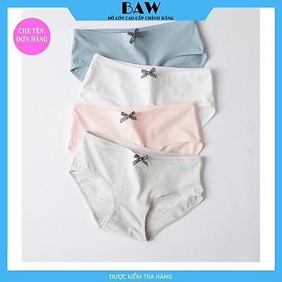 Bộ 5 Quần Lót Nữ Cotton Lót May Chống Viêm Quần Chip Nữ thương hiệu BAW NT14