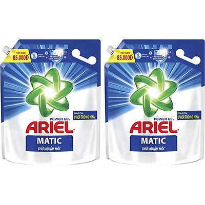 Combo 2 Nước Giặt Ariel Khử Mùi Ẩm Mốc 3.2kg