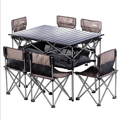 Bộ Bàn 6 ghế Size Lớn đi du lịch (Nâu Coffee)  3-C10-L1-383