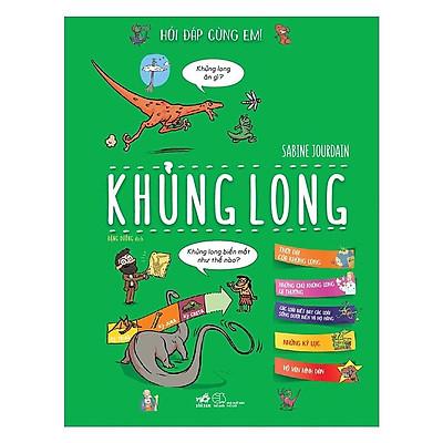 Sách - Hỏi đáp cùng em - Khủng long (tặng kèm bookmark thiết kế)