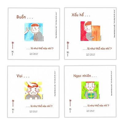 Combo Ehon Nhật Bản NHỮNG ĐIỀU KỲ DIỆU CỦA CẢM XÚC: Buồn...Là Như Thế Nào Nhỉ + Xấu Hổ...Là Như Thế Nào Nhỉ + Vui...Là Như Thế Nào Nhỉ + Ngạc Nhiên...Là Như Thế Nào Nhỉ (Bộ 4 cuốn Phát triển trí tuệ 0 - 6 tuổi/ Tặng kèm Bookmark Happy Life)