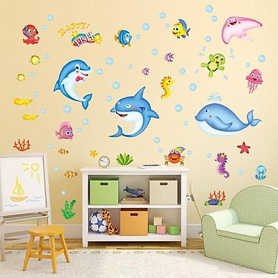Decal dán tường thế giới động vật dưới nước cho bé XL7159