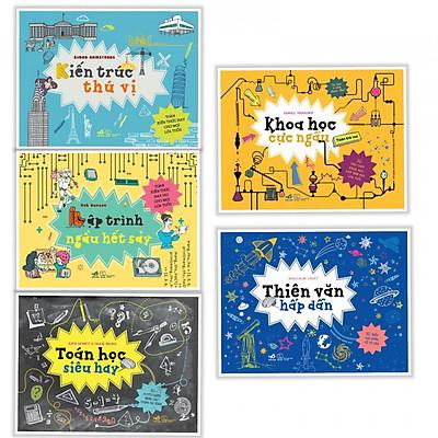 Combo 5 Cuốn Sách Dành Cho Mọi Lứa Tuổi - Kiến Trúc Thú Vị + Lập Trình Ngầu Hết Sảy + Toán Học Siêu Hay + Khoa Học Cực Ngầu + Thiên Văn Hấp Dẫn- (Tặng Kèm Postcard GreenLife AHA)