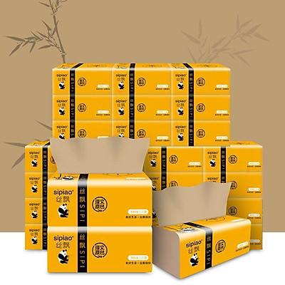 Giấy ăn gấu trúc sợi tre siêu dai (20 gói) an toàn khi sử dụng, giấy ăn an toàn không chất tẩy trắng