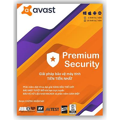 Phần Mềm Avast Premium Security - 1 thiết bị 1 năm - Hàng Chính Hãng