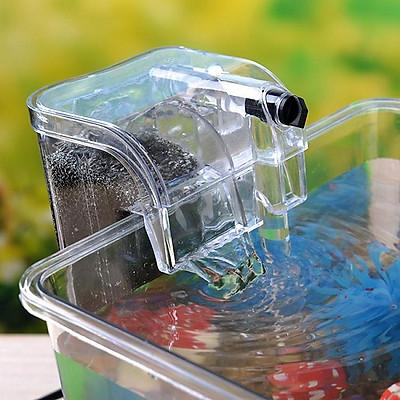 Máy lọc nước bể cá dạng treo, máy lọc thác kết hợp lọc váng