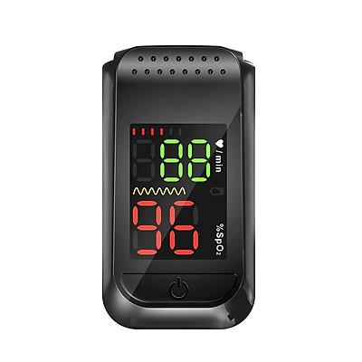 Máy kẹp ngón tay đo nhịp tim và nồng độ oxy trong máu model SO811C - Màu đen