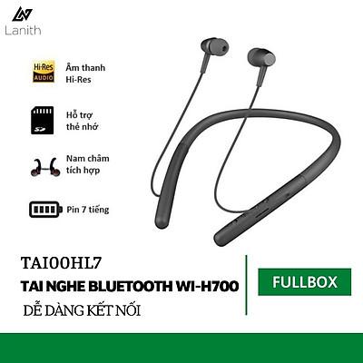 Tai Nghe Bluetooth LANITH WI-H700 - TAI00HL7 - Tai Nghe Không Dây Dòng Cao Cấp - Thiết Kế Choàng Cổ Thể Thao, Hiện Đại - Âm Thanh Trung Thực, Tinh Tế - Chống Nước Nhẹ - Hàng Nhập Khẩu
