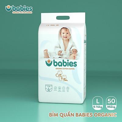 Tả quần Babies Organic size L 50 miếng ( 9-14kg)