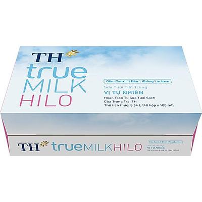 Thùng Sữa Tươi Tiệt Trùng Vị Tự Nhiên TH true MILK HILO 180 ml