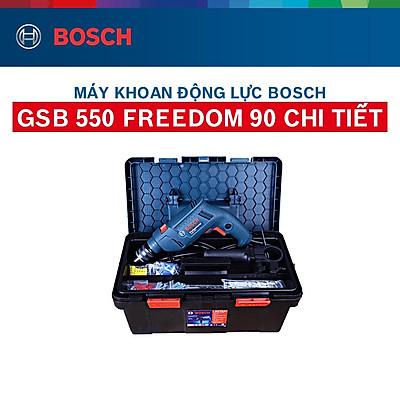 Máy khoan động lực Bosch GSB 550 - Tặng bộ phụ kiện FREEDOM 90 chi tiết