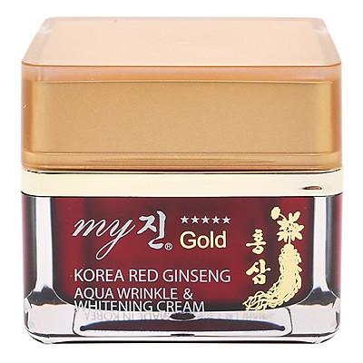 Kem Dưỡng Trắng Da Chống Lão Hóa My Gold Korea Red Ginseng Aqua Wrinkle Whitening Cream (50ml)
