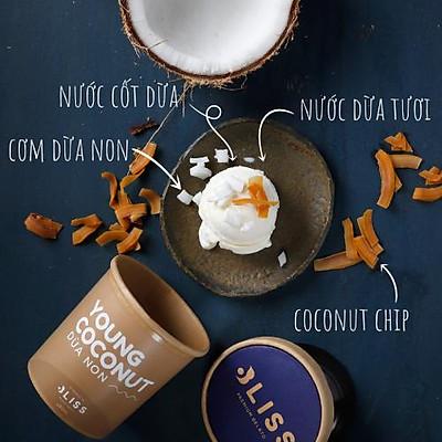 [Chỉ Giao HCM] Kem Dừa non - Young Coconut, hộp giấy kraft 473ml