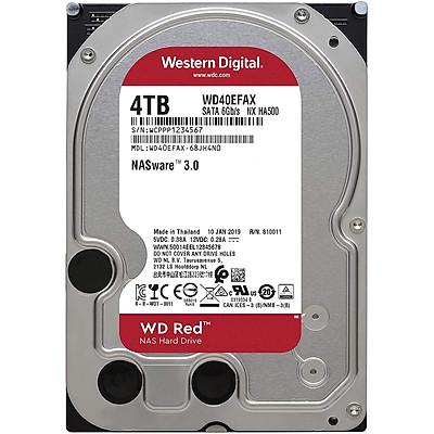 Ổ Cứng HDD NAS WD Red 4TB/256MB/5400/3.5 SATA III - WD40EFAX - Hàng Chính Hãng