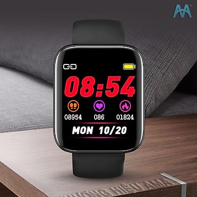 Đồng Hồ Thông Minh AMA Watch S2 Kết nối Bluetooth Theo dõi Sức khỏe Vận động Màn hình cong tràn viền Hàng chính hãng