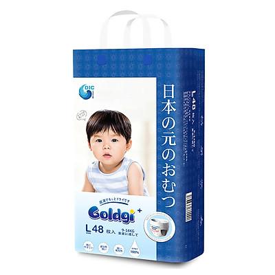 Bỉm quần GOLDGI+ Size L 48 miếng (cho trẻ từ 9-14kg)