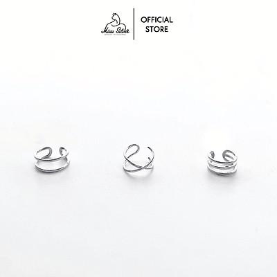 Khuyên tai kẹp vành 3 mẫu Miuu Silver, bông tai nữ Earcuff