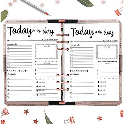"""Sổ c.ò.n.g 6 lỗ A5 planner """"Kế hoạch trọn đời""""  tháng, tuần, ngày in sẵn layout trang trí"""