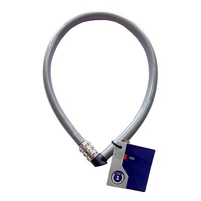 Khóa dây cao cấp khóa xe đạp xe máy, khóa cửa cổng nhà (Mật mã 3 số, 55cm, thép không gỉ)