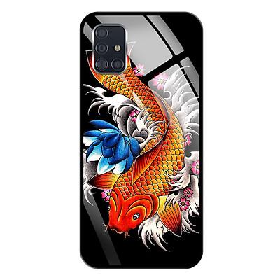 Ốp lưng Kính Cường Lực cho Samsung Galaxy A51 - 0010 FISH05 - Hàng Chính Hãng