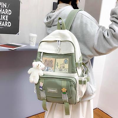 Balo học sinh, Balo kèm gấu bông đi học, cặp sách tặng kèm gấu bông, balo ullzang ngộ nghĩnh, phù hợp phong cách Hàn Quốc dành riêng cho học sinh-