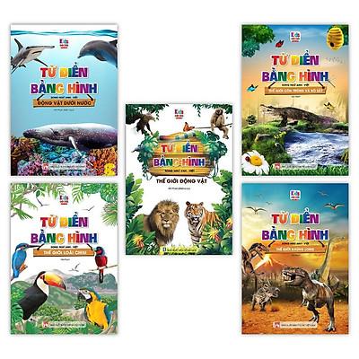 Sách - Từ Điển Bằng Hình Thế Giới Động Vật - Dưới Nước - Loài Chim - Côn Trùng Và Bò Sát - Khủng Long (Bộ 5 Cuốn)