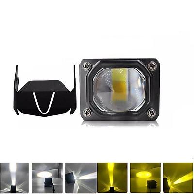 1Pair LED Spotlight Headlight External Far Light For Motorcycle Automotive Projector Lens