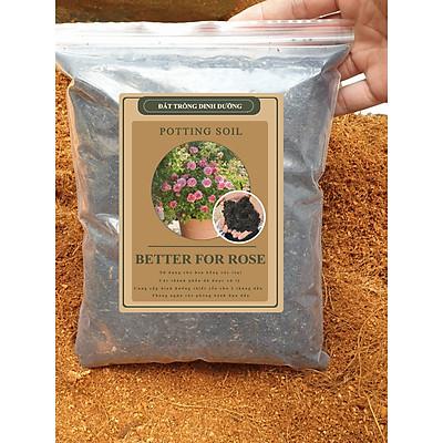 Đất trồng hoa hồng BETTER FOR ROSE - đất nhà vườn trộn sẵn,  bổ sung phân bón thiết yếu cho 2 tháng đầu