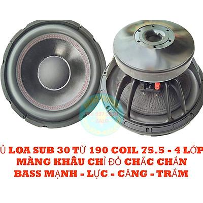 CỦ LOA SUB ĐIỆN - HƠI - BASS 30 ( 3 TẤC ) TỪ 190 COIL 76 - 4 LỚP - NẶNG 7kg
