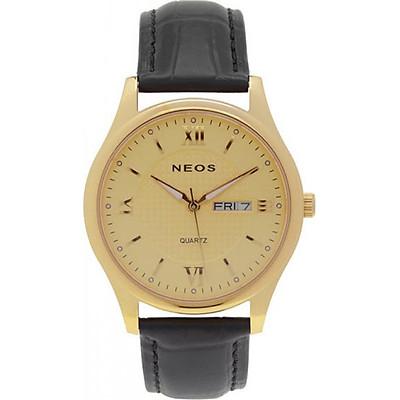 Đồng hồ Neos N-30869M nam dây da mặt vàng
