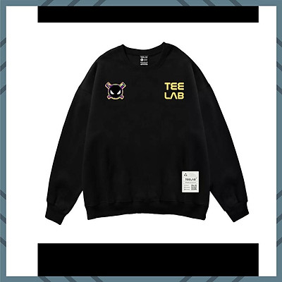 Áo sweater Nam Nử cổ tròn   HÌNH TEELAB dáng rộng tròng đầu phong cách Hàn Quốc NAM